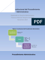 Régimen Constitucional Del Procedimiento Administrativo 2016-1
