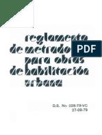 Reg. Metrados Para Obras Habilitacion Urbana Ed.