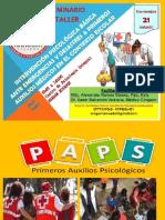 Primeros Auxilios Psicológicos Ante Desastres I Por Ms.C. Alexandra Ramos Gómez