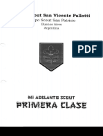 Mi Adelanto Scout Progresión Primera Clase