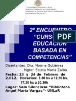 CAP BASADA EN COMPETENCIAS- 2° ENCUENTRO