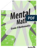 Mental Math Grade 9