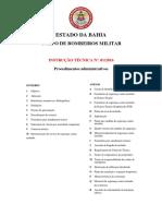 INSTRUÇÃO TÉCNICA Nº. 01-2016 - Procedimentos Administrativos
