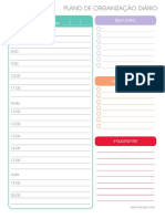 Plano Organização Diario Tanlup