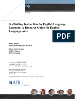 Scaffolding Instruction for Ells-resource Guide for Ela