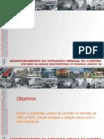 Monitoramento da expansão urbana de Curitiba