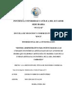 DISEÑO ADMINISTRATIVO PARA UNIDADES ARTESANALES DE SAN ANTONIO DE IBARRA