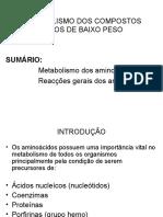 METABOLISMO AMINOACIDOS