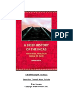 A Brief History of the Incas, Brien Foerster