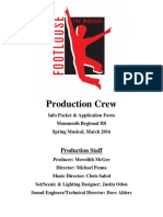 Production Crew Packet and Form