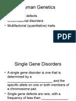 BIOL 3301 - Genetics Ch2C - Human Genetics St