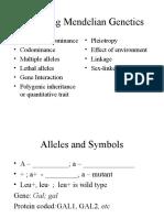 BIOL 3301 - Genetics Ch4A - Extending Mendelian Genetics1st