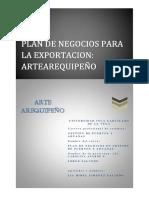 Plan de Negocios Para La Exportacion Artearequipeño