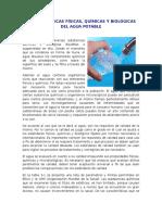 Cacteristicas Del Agua Potable