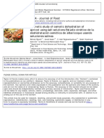 A Kinetic Study of Osmotic Dehydration of Apricot Using Salt Solutions