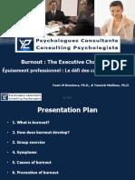 Y2CP La prévention de l'épuisement professionnel - Preventing burnout