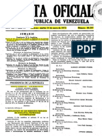 Gaceta Oficial Decreto 699 año 1975