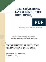 Bat Phuong Trinh Chua an Trong Dau Can
