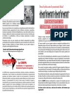 Volante Campaña contra la precarización laboral. COMPA