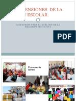 LAS DIMENSIONES  DE LA GESTIÓN ESCOLAR.pptx