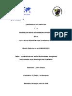 Investigacion Sobre El Desarrollo de La Pesqueria en El Municipio de Bluefields