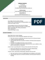 teaching resume