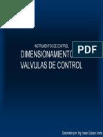 116 Dimensionamiento de Valvulas de Control