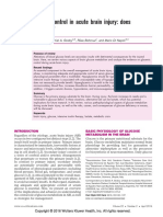 glucose control in acute brain injury