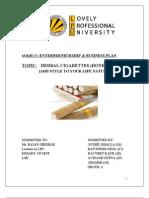 Business Plan(Herbal Ciggarettes2003