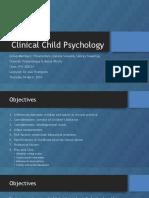 Clinical Child Psychology