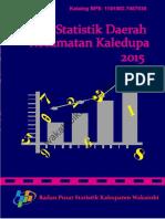 Statistik Daerah Kecamatan Kaledupa 2015 Kabupaten Wakatobi