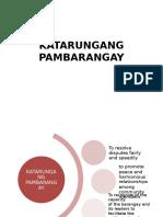 KATARUNGANG-PAMBARANGAY