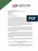 MDP Ltr to SBE Re Ehrlich Response 050510