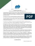 El SNTP en Solidaridad con la periodista Adriana Núñez