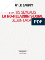 Guy Le Gaufey - Hiatus Sexualis. La No-relación Sexual Según Lacan