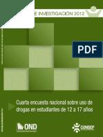4ta Encuesta Nacional Sobre Uso de Drogas en Estudiantes de 12 a 17 Anos