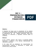 NIC 1 - Presentación de EEFF