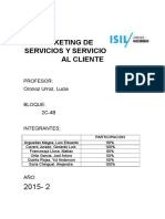 Marketing de Servicios - trabajo Final