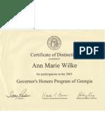 GHP certificate