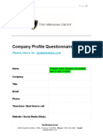 Jay Abraham Consult Form-Monster Questionnaire