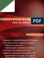 Research Design in a Legal Study