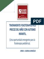 Tratamiento Fisioterapéutico Precoz Del Niño Con Autismo Infantil