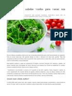 7 Opções de Saladas Verdes Para Variar Seu Cardápio