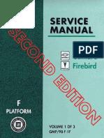 1998 Chevrolet Camaro & Pontiac Firebird Service Manual Volume 1
