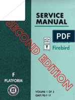 1998 Chevrolet Camaro & Pontiac Firebird Service Manual Volume 1