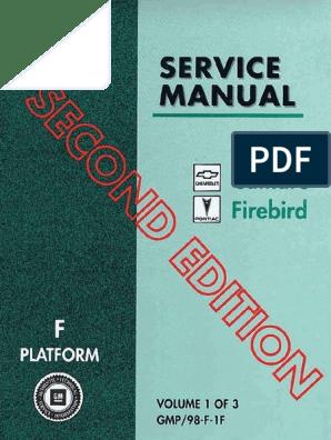 1998 Chevrolet Camaro & Pontiac Firebird Service Manual