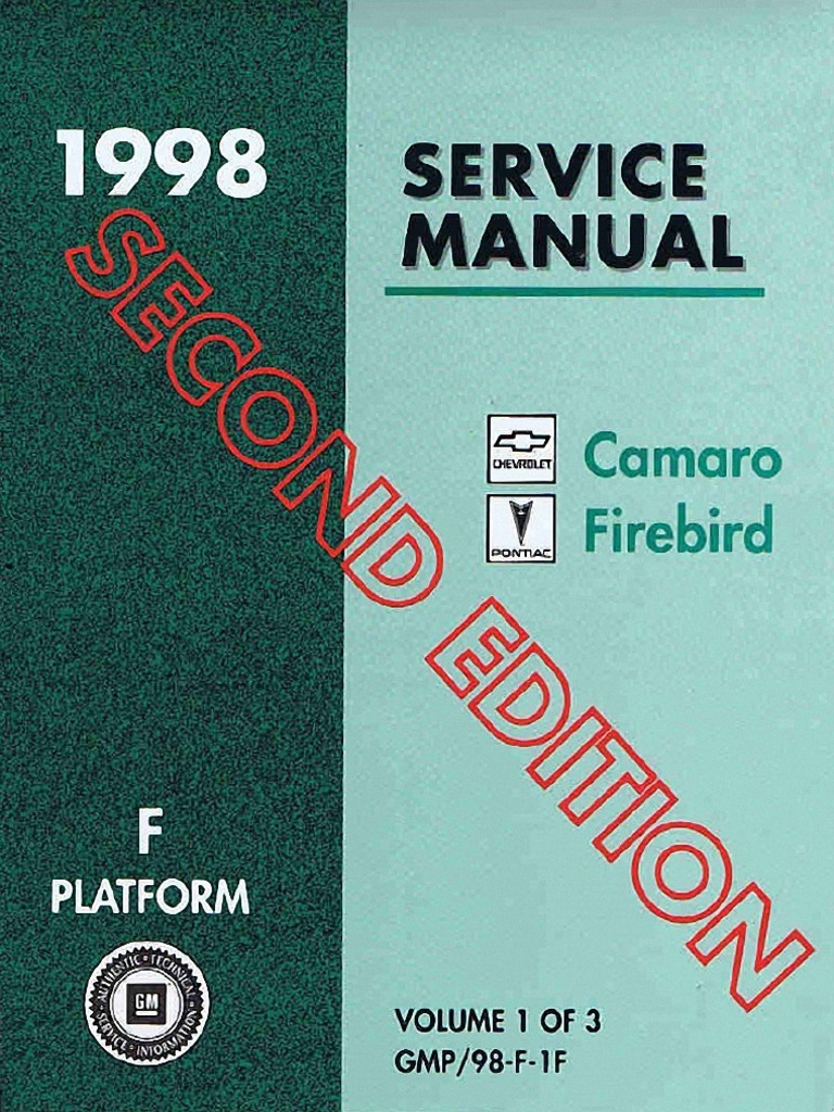 1998 chevrolet camaro pontiac firebird service manual volume 1