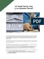 Cuándo Es Legal Tener Una Cuenta en Un Paraíso Fiscal