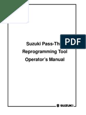 Programming ECU Suzuki | Installation (Computer Programs) | Device
