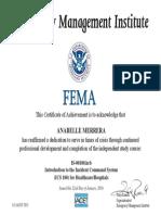 fema certificate 1